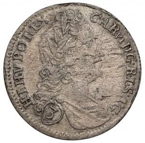 Austria, Karol VI, 3 krajcary 1725, Praga