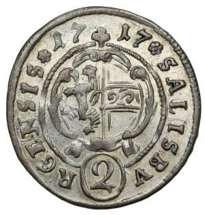 Austria, Franz Anton von Harrach, 2 krajcary 1717, Salzburg