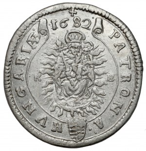 Hungary, Leopold I, 15 kreuzer 1682 KB