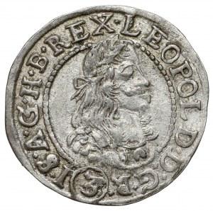 Hungary, Leopold I, 3 kreuzer 1679 KB