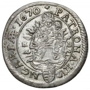 Hungary, Leopold I, 6 kreuzer 1670 KB