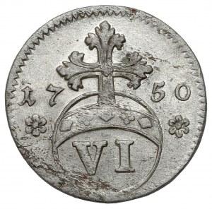 Brunswick-Wolfenbüttel, Karl I, 6 pfennig 1750