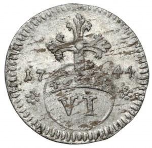 Brunswick-Wolfenbüttel, Karl I, 6 pfennig 1744