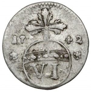 Brunswick-Wolfenbüttel, Karl I, 6 pfennig 1742
