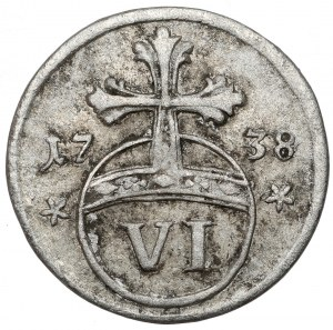 Brunswick-Wolfenbüttel, Karl I, 6 pfennig 1738