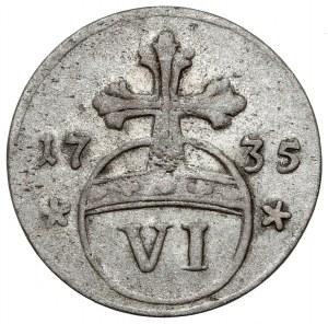 Brunswick-Wolfenbüttel, Ferdinand Albert II, 6 pfennig 1735