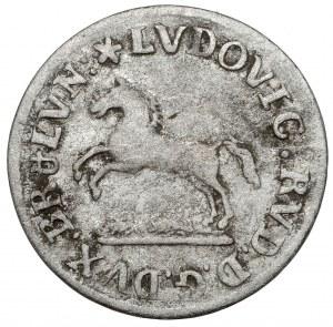 Brunswick-Wolfenbüttel, Ludwig Rudolf, 6 pfennig 1734