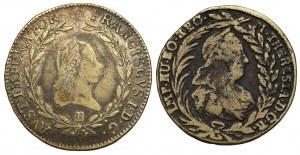 Austria, 20 krajcarów 1774 i 1810 - fałszerstwa z epoki (2szt)