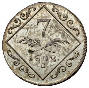 Austria, Franciszek II, 7 krajcarów 1802-C