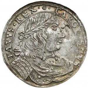 Karol X Gustaw, Ort Elbląg 1656 - w wieńcu laurowym - b.rzadki