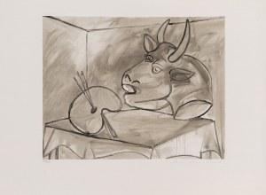 Pablo PICASSO, Martwa natura z paletą i głową byka