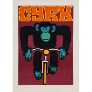 Wiktor GÓRKA, Cyrk. Małpa na rowerze, 1968 r.