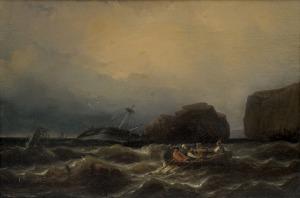 Hildebrandt Eduard August, STATEK W NIEBEZPIECZEŃSTWIE, 1839