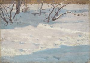 Ruszczyc Ferdynand, OGRÓD W ŚNIEGU, 1894