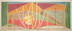Burkiewicz Franciszek, Pejzaż techniczny ze słońcem, 1981