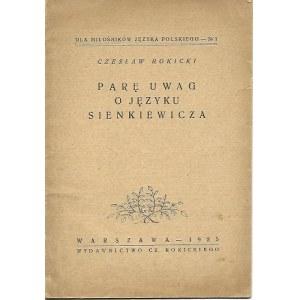 Rokicki Czesław Parę uwag o języku Sienkiewicza