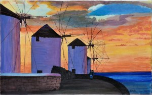 Bogumiła Ciosek (Ur.1938), Wiatraki, 2000