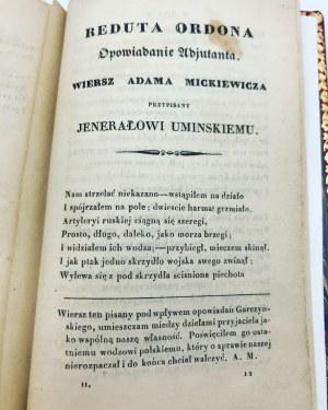[Mickiewicz Adam] Garczyński Stefan Poezye T. 1-2 (1 wol.) Paryż 1833 [Pierwodruk