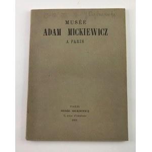 Musee Adam Mickiewicz a Paris 1929