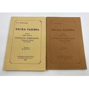 Bławatska H. P. Nauka Tajemna tom II [ex libris Rafał T. Prinke]