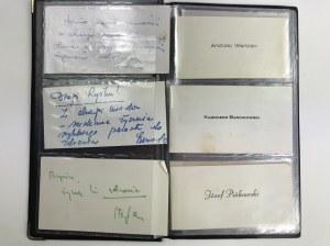 Kolekcja biletów wizytowych najważniejszych polityków [Kania, Kruczek, Ziętek, Barcikowski, Babiuch i inni]