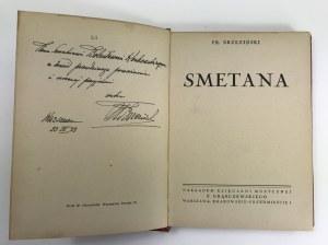 [Dedykacja] Brzeziński Franciszek, Smetana [1933]