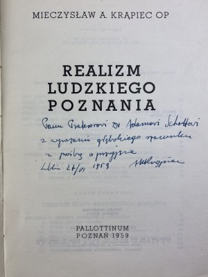 [Dedykacja dla Adama Schaffa] Krąpiec Mieczysław Realizm ludzkiego poznania