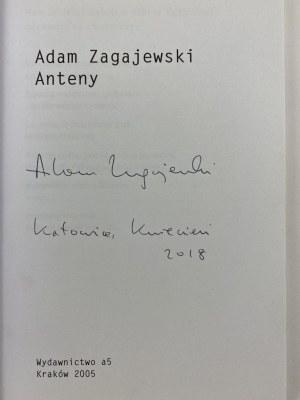 [Autograf] Zagajewski Adam, Anteny [wydanie I]
