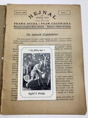 Miesięcznik Hejnał, styczeń 1929, zeszyt 1 [Czem jest Yoga?]