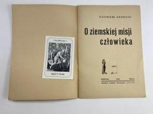 Krobicki Kazimierz, O ziemskiej misji człowieka [Wisła 1939]