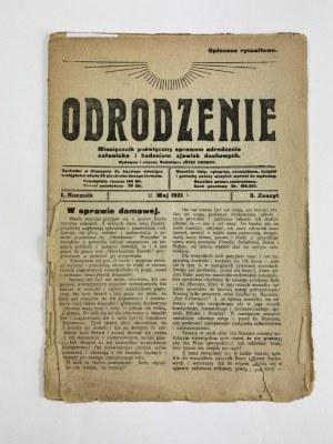 Miesięcznik Odrodzenie, zeszyt 3 Rok I, Maj 1921 [Horoskop Astrologiczny na rok 1921]