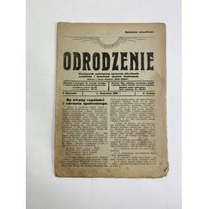 Miesięcznik Odrodzenie, zeszyt 4 Rok I, Czerwiec 1921 [Biomagnetyzm jako klucz do fizyki magji]