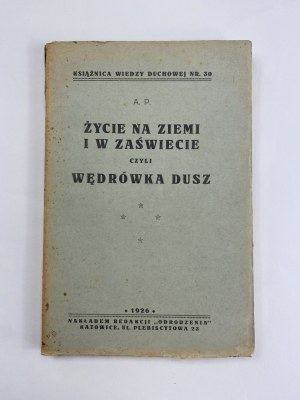 Pilchowa Agnieszka pseud. A.P., Życie na ziemi i w zaświecie czyli wędrówka dusz