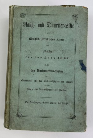 [Oficerowie Wielkopolski, Śląska, Pomorza] Rang und Quartier -Liste der Königlich