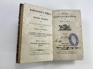 [Graf Maximilian Yorck von Wartenburg] Militärische Landesbeschreibung Berlin 1837