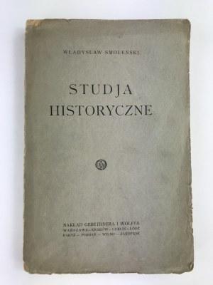 Smoleński Władysław, Studia historyczne
