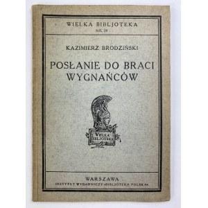 Brodziński Kazimierz, Posłanie do braci wygnańców