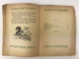 Krawczyński Wiesław Poszumy lasu Kraków 1947 [drzeworyty Stefanii Dretler-Flin]