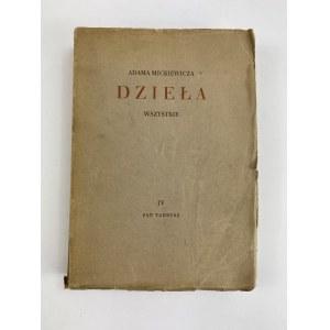Mickiewicz Adam Pan Tadeusz Dzieła Wszystkie tom IV [Edycja Sejmowa]