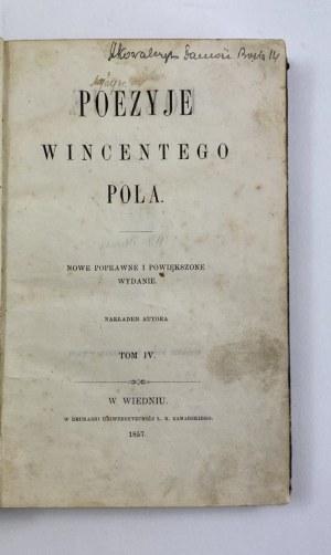 Pol Wincenty Poezye 1857 nakładem autora tom IV [Wiedeń 1857]