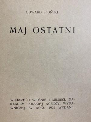 Słoński Edward, Maj ostatni: wiersze o wiośnie i miłości