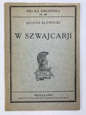 Słowacki Juliusz, W Szwajcarii