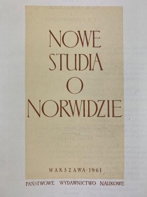 Nowe studia o Norwidzie