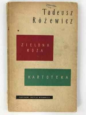 Różewicz Tadeusz, Zielona róża, Kartoteka [wydanie I]