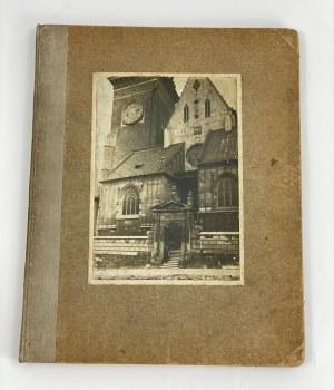 Czaplicki Stanisław Architektura Polska - rękopis z wklejonymi zdjęciami [ex libris autora]