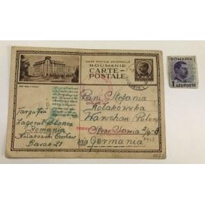 [Polak w rękach systemu III Rzeszy] [List z tajną ukrytą wiadomością] Karta pocztowa wysłana przez Czesława Kołakowskiego z obozu internowania Targu Jiu