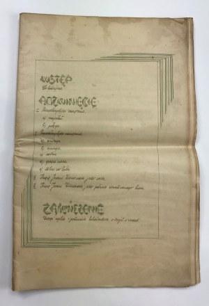 Rękopis z 1933 roku. Wypracowanie gimnazjalne z historii [data wpisania oceny 19.IV.33]