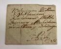 [Pieczęć Ogiński] Koperta z herbową pieczęcią lakową Franciszka Ksawerego ks.Ogińskiego