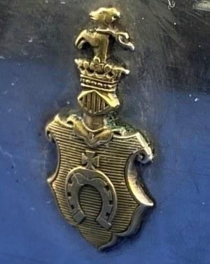 [Herb Pobóg] Pudełko art-deco [wizytownik] ze staropolskim herbem szlacheckim Pobóg