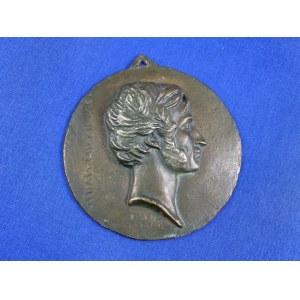 [Mickiewicz] David d'Angers Medalion z popiersiem Adama Mickiewicza, pierwsza połowa XIX w.